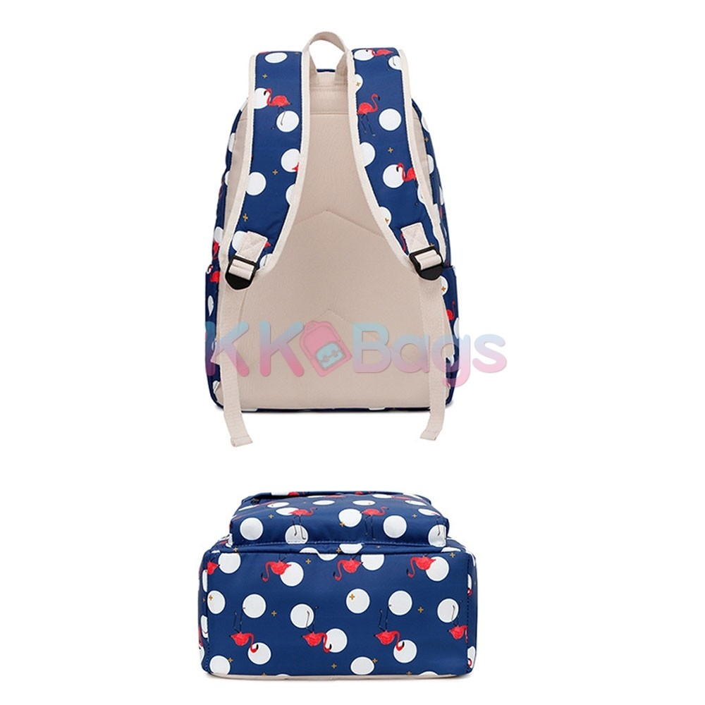 f7c9844572dc School Backpack set for Teen Girls Backpack Cute Flamingo Prints Bookbags  with Lunch bag Pencil Case Casual Daypack