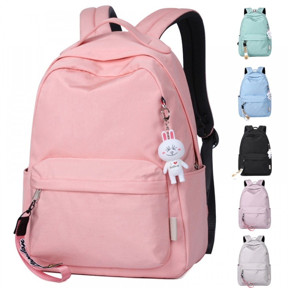 Basic Sporty Candy Color Teens Girls Travel School Backpack Book Bag