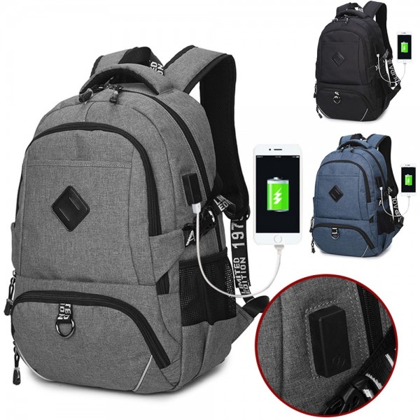 Popular College School Backpacks Business Laptop With Charging Port Book Bags