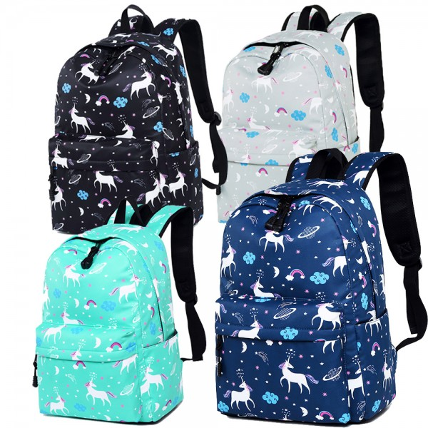 Popular Costomized Durable Unicorn Character Backpack for Girls