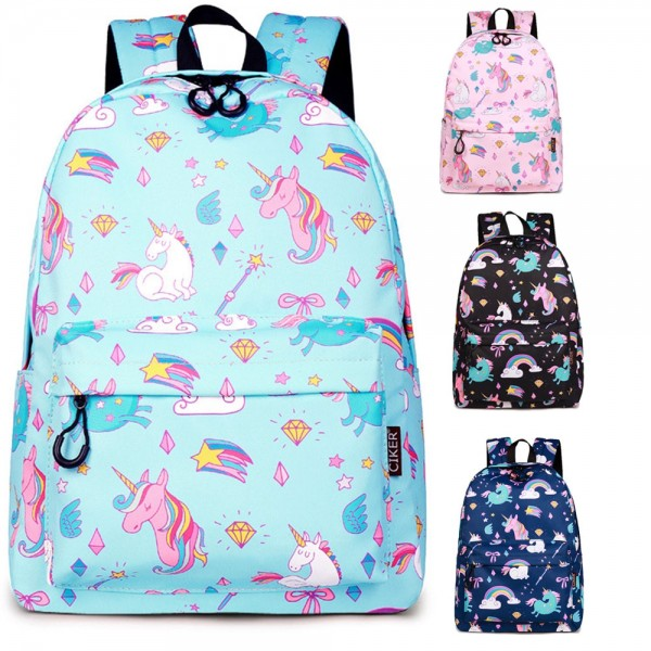 Unicorn Backpack for High School Girls Waterproof Travel Lightweight Daypack