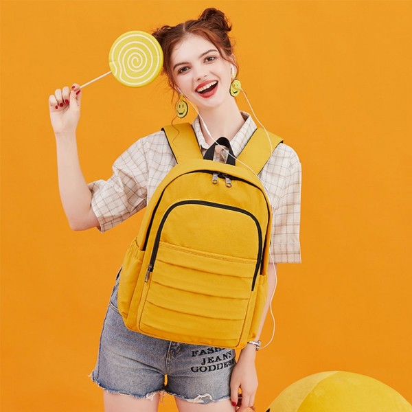 Usb Backpack for School Teen Girls Waterproof  Schoolbag Travel Bag with Laptop Compartment for College