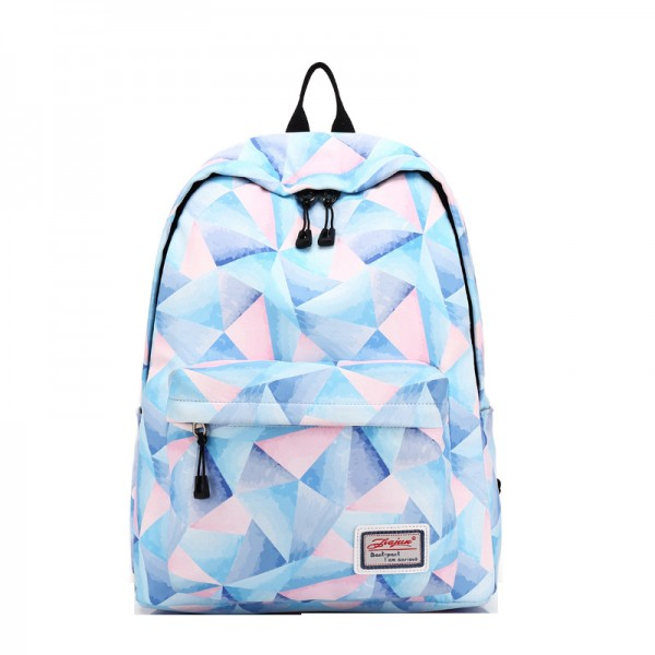 Women's Stylish Lightweight Floral Printed Waterproof Canvas Backpack